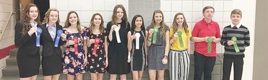 2018 8th Grade Science Fair Winners