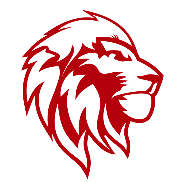 Lion Head Only - Red
