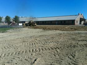 Pad being built for new elementary wing